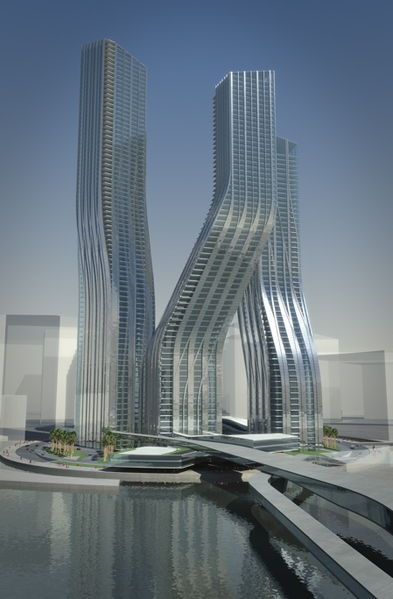dancing towers  dubai