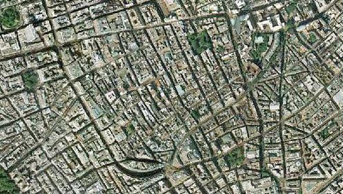 aerial view of soho london