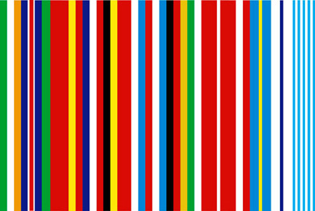 Rem Koolhaas design for European Flag - uses colors of all flags of all european nations